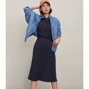 Anthropologie Janou Midi Dress - XS - Black (NWT)
